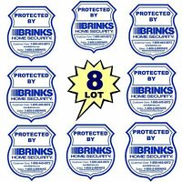 Lot 8 Home Security System Alarm Window Decal Burglar Warning Sticker Signs