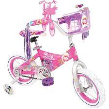 "12"" Barbie Girls' Bike Travel Basket Carrier Pink Training Wheels Toy Learn Fun"