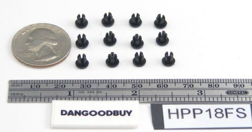 "100 Plastic Hole Plugs Black Nylon 1//8 Inch To Fit 1//8/"" Opening"