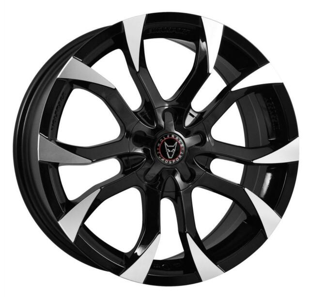 18 Wolfrace Assassin 4 Black Alloy Wheels Fits Opel Antara 11 On