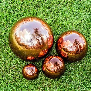 Copper-Stainless-Steel-Gazing-Ball-Garden-Sphere-Ornaments-9-13-18-25cm