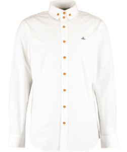 VIVIENNE-WESTWOOD-Men-039-s-White-Long-Sleeve-Poplin-Shirt-size-52-XL