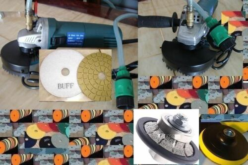 "Variable Speed Wet Polisher 114"" Demi Bullnose Router Pad Buff Stone Concrete"