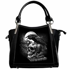 Alchemy Gothic Handbag Poes Raven Crow Skull 3D Black Fantasy Lenticular Bag