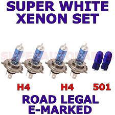 VAUXHALL BRAVA 1988-1993 SET OF H4 H4 501 HALOGEN XENON SUPER WHITE LIGHT BULBS