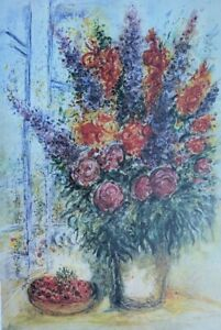 Chagall-Marc-the-Bouquet-en-Ete-Lithography-Numbered-Signed-500ex
