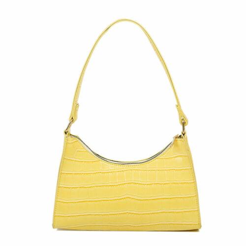 Fashion Alligator PU Handbag Women Solid Leather Totes Shoulder Underarm Bags