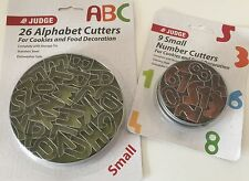 ALPHABET And NUMBER Cutters Small Fondant Sugar paste CAKE Decoration LETTERS