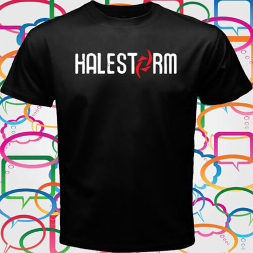 HALESTORM Rock Band Logo Men/'s Black T-Shirt Size S to 3XL