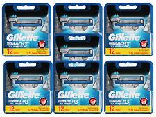 6x 12er OVP 80 Gillette Mach3 Rasierklingen 2x 4er = 8 im Blister = 80 Stück
