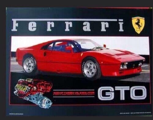 1984 Ferrari 288 GTO Twin Turbo.-Extremely Rare! Car Poster :/> Stunning