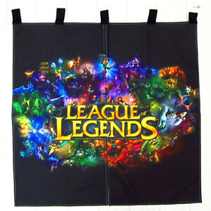 Neu League of Legends LOL japanische Gardine Tür-Vorhang 90x90cm Super Cool