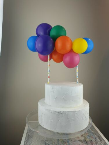 RAINBOW BALLOON CAKE TOPPER MINI GARLAND PARTY BIRTHDAY WEDDING ARCH UNICORN