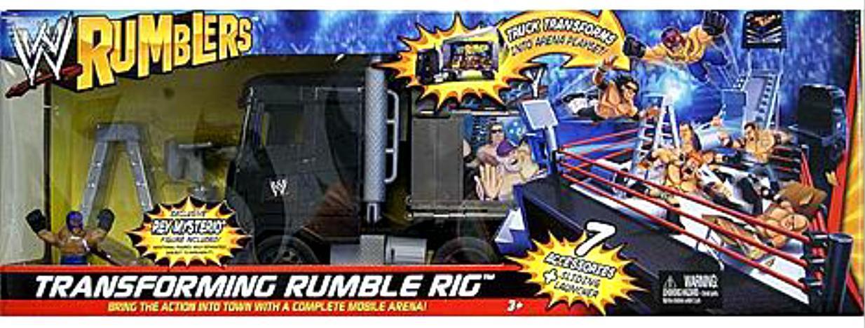 Wwe Rumblers transformar Rumble Big Rig Arena Jugarset Rey Mysterio Sellado Nuevo