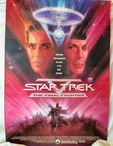 Star Trek V Final Frontier 1989 Original SS 27x41