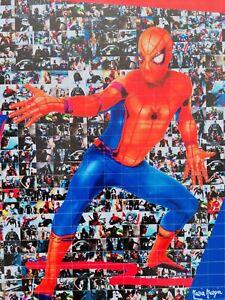 MARIA MURGIA  - SPIDER MAN -  2020 Pezzo unico dipinto  cm 50x50 + ARCHIVIO