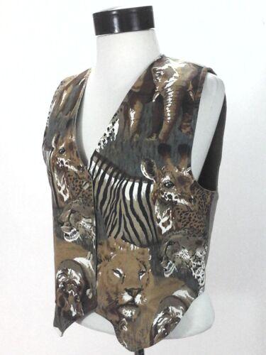 Safari Lions Kvinders Giraff Afrika Rare Håndlavet M Brun Muhle Vest Zululand w6aR0q