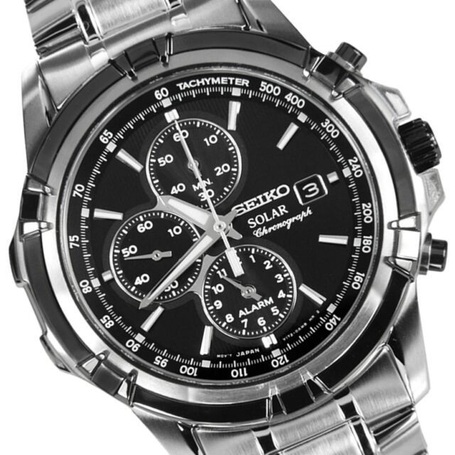 New Seiko Solar Chronograph V172 Men Watch SSC147P1 SSC147