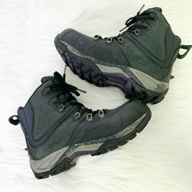 Merrell Womens Whiteout 8 Black Waterproof Round Toe Lace Up Hiking Boots Size 7