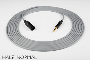 8/' Canare L-4E6S Quad Balanced Cable Neutrik Gold XLR Male to XLR Female White