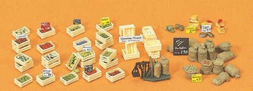 Preiser 17501 Fruit and vegetable boxes HO 1:87 amazing detail