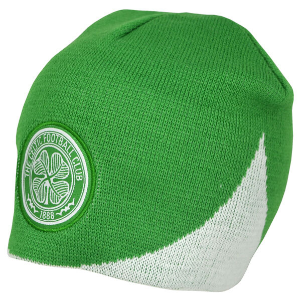 Celtic FC Official Wave Knitted Football Crest Winter Beanie Hat  d5f77d62a66