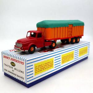 Atlas-Dinky-toys-36B-Tracteur-Willeme-ET-Semi-Remorque-Bachee-Truck-Metal-Cars