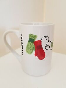 Starbucks-2011-Mittens-Christmas-Coffee-Mug-Cup-10-oz