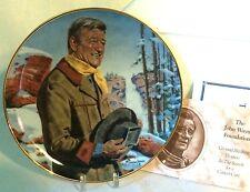 "Franklin Mint John Wayne Pine Ridge LE #2792 Porcelain 8"" Plate Cowboy Western"