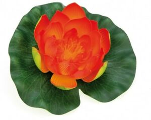 Pontec-PondoLily-Orange-Pond-Water-Lily-Pads-Artificial-Pond-Plant-Decoration