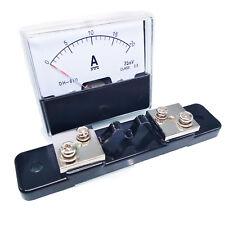 Us Stock Analog Panel Amp Current Ammeter Meter Gauge Dh 670 0 20a Dc Amp Shunt