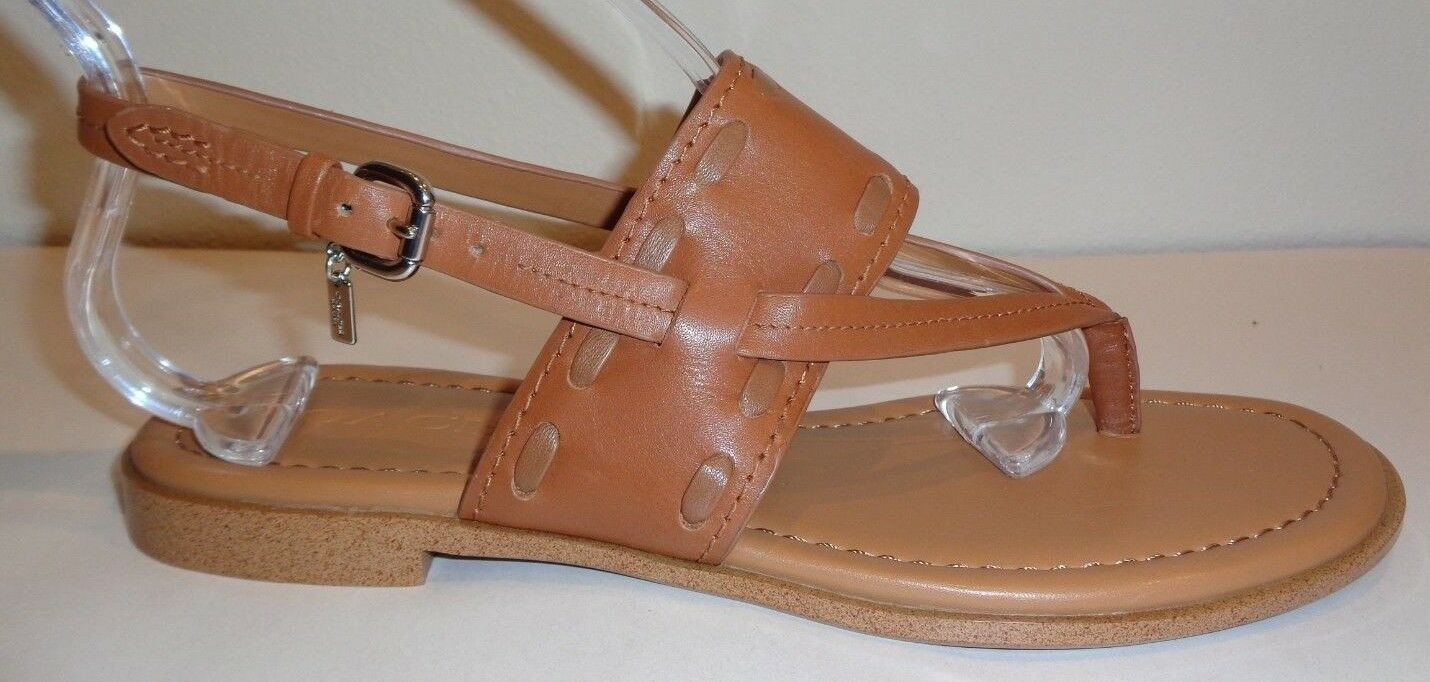 Entrenador de tamaño 7.5 M M M Stacey Marrón Cuero Correa De Tobillo Sandalias nuevo Zapatos para mujer  marca famosa