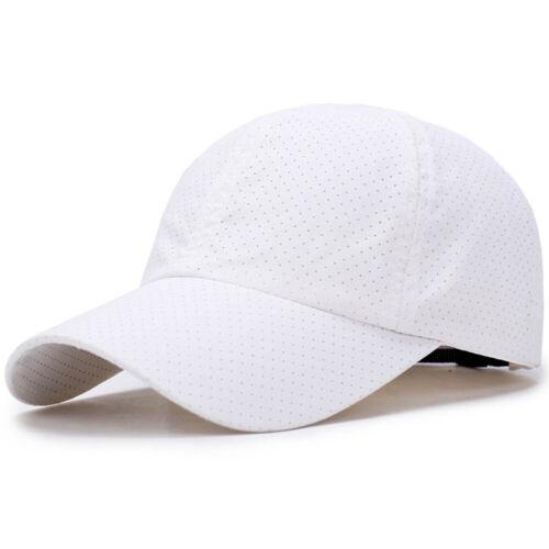 Men Women Summer Baseball Caps Snapback Quick Dry Mesh Breathable Sun Hat Sports
