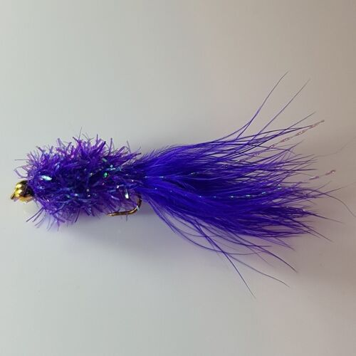 GH015 Streamers # 10s 3 Bead Headed Purple Fritz Lures