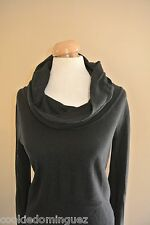 """DKNY Jeans Womens BLACK Knit Sweater Cowl Turtle Neck Size M Medium Chest 32"""""""