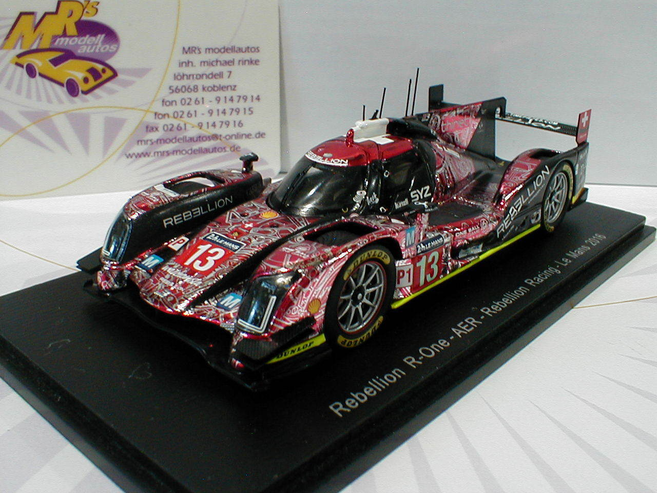 Spark s5107-rebelión R-one No. 13 24h Lemans 2016 kraihamer, imperatori 1 43