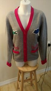 big discount great deals 2017 best sneakers Details about Lacoste Live! Cool Cats Wool Cardigan Sweater Size 3 S Grey  RARE