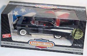 ERTL-1-18-1957-Chevy-Bel-Air-Sport-Coupe-BLACK-Hardtop-7437-American-Muscle-039-57