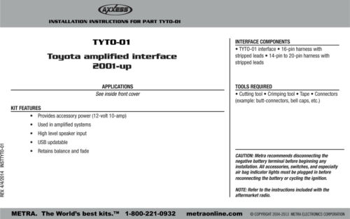 Car Stereo Mount 95-8212 Double Din Radio Install Dash Kit for Solara w// JBL