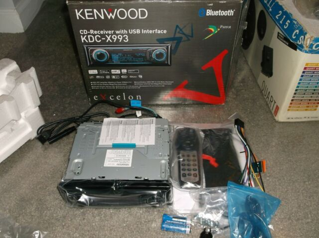 OLD SCHOOL KENWOOD KDC-X993, RARE EXCELON CD-RECEIVER + USB INTERFACE!!   SQ!!