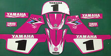 pw50 decals graphics yamaha pw 50 personal peewee laminated stickers pink set 2