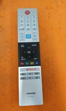 Genuine Remote Control CT-8541 For Toshiba 24WL3A63D Smart 4K UHD HDR TV Netflix