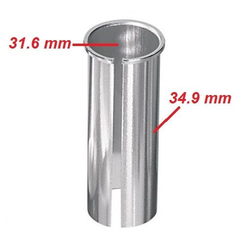 BIKE SEATPOST REDUCER 31.6 /> 34.9 MM SHIM EXTENSION CONVERT TUBE ADAPTER ADAPTOR