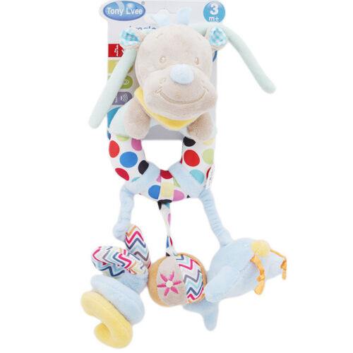 Baby Hanging Bell Stroller Toys Rattles Plush Doll Bed Animal Infant Soft Play J
