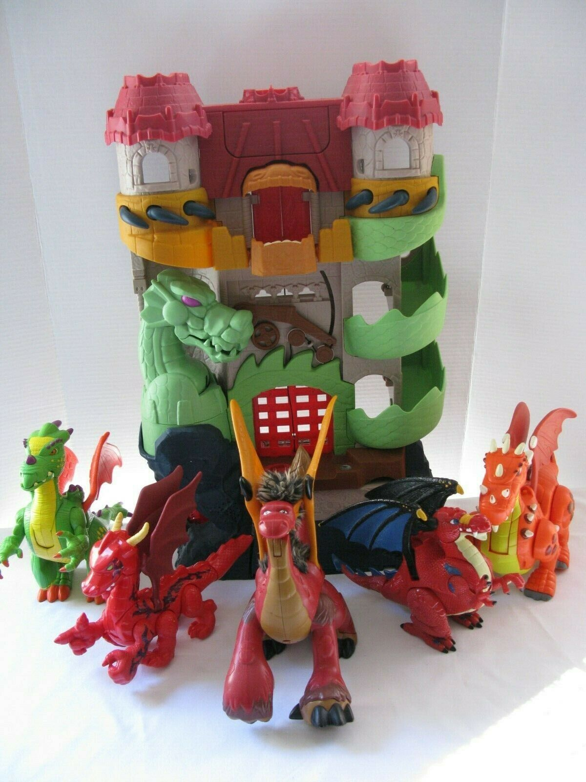Fisher Price Imaginext Dragon World Fortress Lot 5 Extra Extra Extra Dragons Lights & Sound 9bf4be