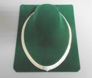 Estilo Retro Plata Esterlina Cleopatra ancho Collar, marcas de importación 1978