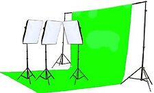 Fancierstudio 2400 Watt Chromakey Green Screen Video Lighting Kit With Softbo...