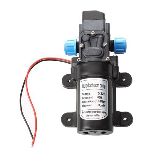 Black DC 12V 60W high-pressure mini membrane water pump automatic shutdown L8D9