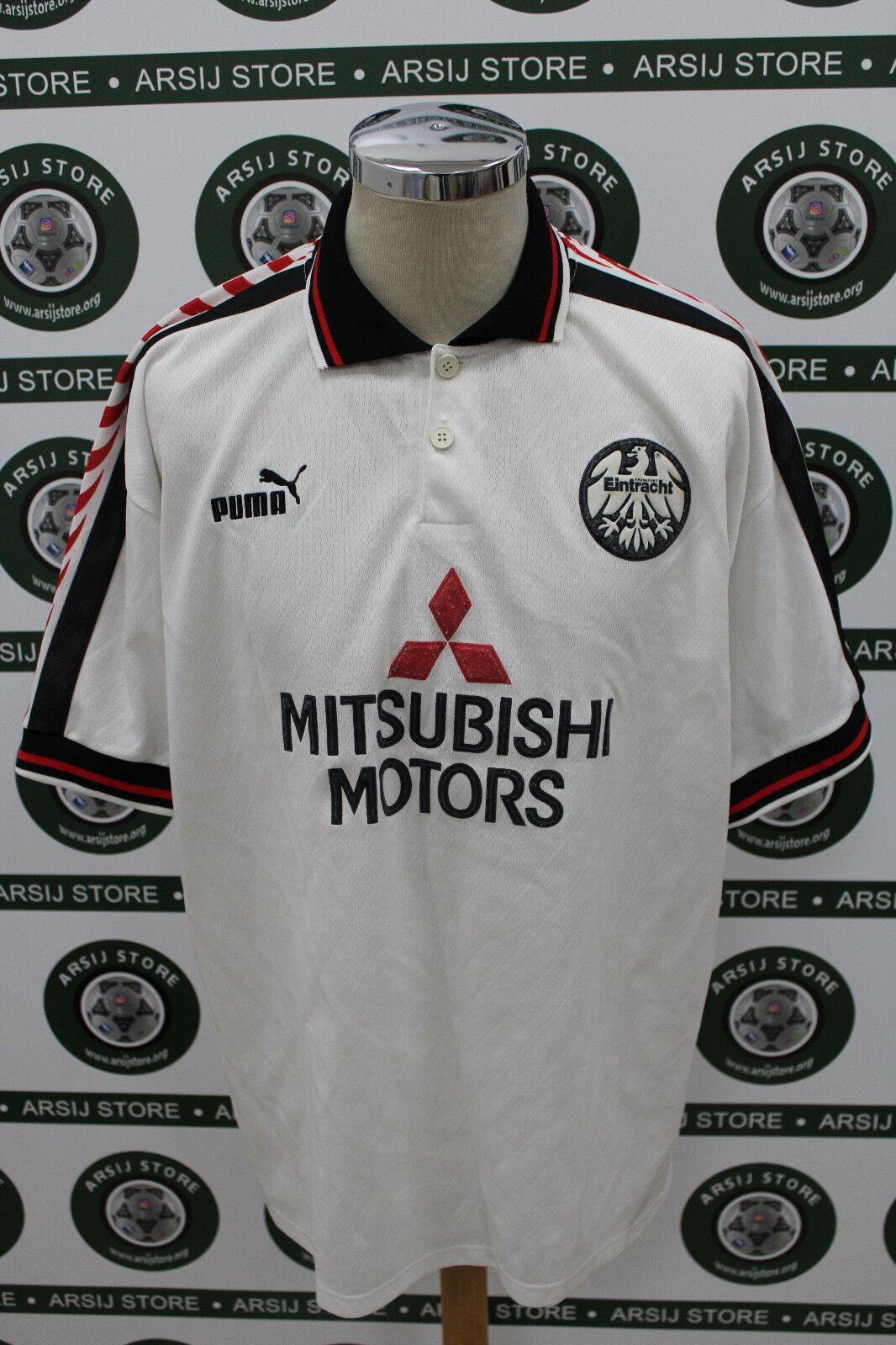 247abf8d60b9ab Maglia calcio trikot EINTRACHT FRANCOFORTE GAUDINO TG XL 96 97 maillot shirt  noiaoi4008-Calcio