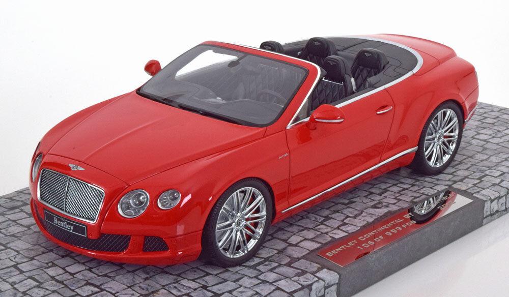 Minichamps 2013 Bentley Continental Gt Vitesse Cabriolet Rouge le de 999 0.1cm